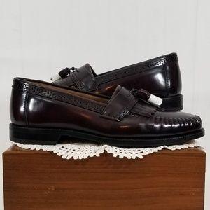 BASS Men's Tartan Tassel Loafers Size: 9D